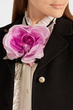 Gucci | Cotton and silk-blend brooch | NET-A-PORTER.COM