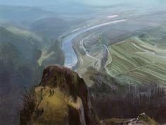 Mountain Landscape, Tymoteusz Chliszcz on ArtStation at https://www.artstation.com/artwork/VxVbn
