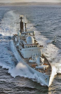 Type 42 destroyer HMS Liverpool is pictured during Exercise Joint Warrior Marine Engineering, Navy Aircraft, Navy Military, Navy Ships, Military Weapons, Aircraft Carrier, Royal Navy, Water Crafts, Battleship