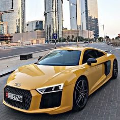 Luxury World Cars - Cars of the day, everyday is the car day! Your daily source of luxury cars. Audi spotted in Dubai / yellow editionWhat Makes a Supercar a Supercar?The term supercar appears to have first Luxury Sports Cars, New Sports Cars, Super Sport Cars, Exotic Sports Cars, Best Luxury Cars, Exotic Cars, Bugatti, Lamborghini, Audi Sport