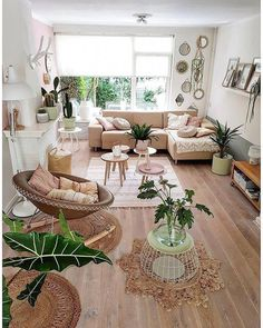 Interior Home Design Trends For 2020 - New ideas Boho Living Room, Home And Living, Bohemian Living, Modern Living, Cozy Living, Bohemian Decor, Bohemian Interior, Boho Chic, Small Living