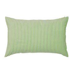 LUKTNYPON Tyynynpäällinen IKEA Polyesterisametti tuntuu ihanan pehmeältä ihoa vasten. Vetoketjun ansiosta päällinen on helppo irrottaa.