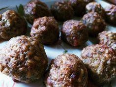 Mäsové guľky s krúpami pečené v rúre, Hlavné jedlá, recept | Naničmama.sk