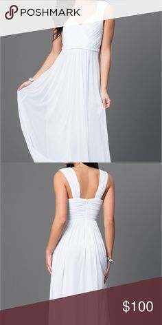Floor length white dress Worn once, in perfect condition. Dresses Prom