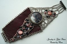 Beaded bracelet with Agate pearls shells by RutaJewelry on Etsy, $62.00