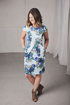 Kim Ray On the blog...summer dresses, floral dresses, how to style dresses, Frances Jaye, Floral