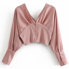 V-neck French style buckled smoked satin shirt como faço pra comprar Blouse Styles, Blouse Designs, Hijab Fashion, Fashion Dresses, Urban Fashion, Womens Fashion, Vetement Fashion, Satin Shirt, Mode Style