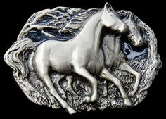 Western Twin Horses Cowgirl Cowboy Rodeo Equestrian Unisex Gifts Belt Buckle #CoolBuckles #ilovehorses #horses #runninghorses #beltbuckle