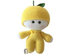 Muñeco yoyo limón amigurumi