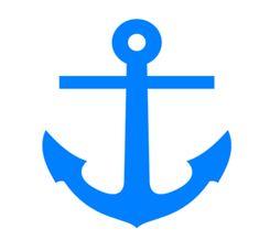Blue Anchor clip art - vector clip art online, royalty free & public domain