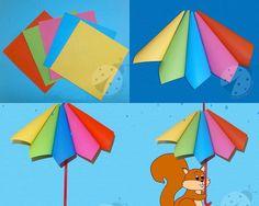 Umbrella crafts for preschool | funnycrafts