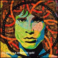 Jim Morrison portrait made from junk mail...LOVE IT!