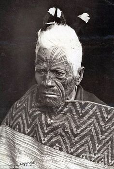 The white-haired Maori chief Teroro Tamati...
