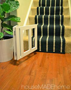 diy dog gate from a bench a tutorial, home improvement, how to, pets animals Diy Dog Gate, Pet Gate, Doggie Gates, Indoor Gates, Vintage Milk Can, Stair Gate, Dog Steps, Baby Gates, Child Gates