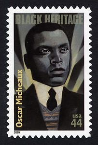"Oscar Micheaux .   Authored seven novels and forty-four screen plays. First Black Independent Filmmaker in America.  Produced and directed over forty-four motion pictures.  1919, first full-length, ""The Homesteader"""