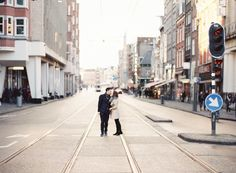 Film Engagement Photos in Amsterdam, Netherlands by Maitha Lunde