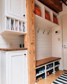"Exceptional ""laundry room storage diy shelves"" info is offered on our web pages. Shoe Storage Design, Diy Shelves, Mudroom Organization, Room Storage Diy, Mud Room Storage, Storage Closet Organization, Mudroom Laundry Room, Simple Storage, Diy Entryway"