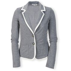 Aeropostale Ponté Knit Blazer (21 AUD) ❤ liked on Polyvore featuring outerwear, jackets, blazers, coats, stretch blazer, aeropostale jackets, knit jacket, slim fit jackets and button jacket