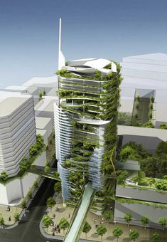 eco-friendly tower block in Singapore