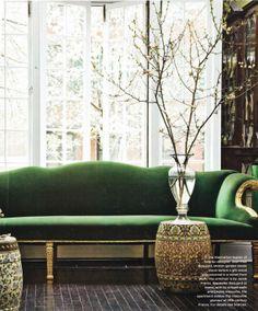 Color crush: Emerald + Gold
