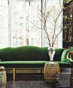 Color crush: Emerald + Gold
