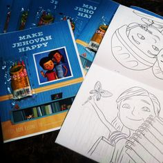 Make Jehovah Happy Coloring Book  Caleb & by DefinedByYouStudios Caleb Et Sophia, Family Worship Night, Jw Bible, Worship Ideas, Jehovah Witness, Jw Gifts, Sofia Party, Infancy, Jehovah's Witnesses