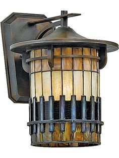 Old Outdoor Lighting. Autumn Ridge Medium Wall Lantern in Bergamo Finish