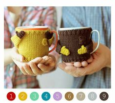 Can you believe that Valentine's Day is almost here? Don't wait until the last minute to find that perfect Valentine's Day gift. Here are a few creative and unique handmade Valentine's Day gift ideas…More Sweater Knitting Patterns, Knit Patterns, Diy Becher, Kids Crafts, Diy And Crafts, Diy Mugs, Mug Cozy, Creative Gifts, Creative People