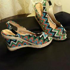 Ladies shoes Multicolor slingback open toe Shoes Espadrilles