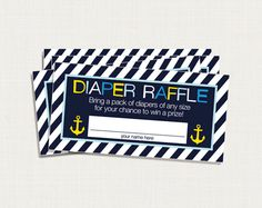 diaper raffle... cute idea