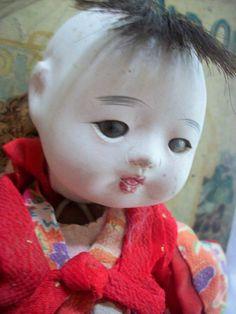 Charming ANTIQUE JAPANESE DOLL  Ichimatsu by vintagewarehouse