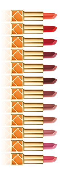 The full spectrum of Tory Burch lip colors. I would LOVE to own one of Tory burchs lipsticks they look amazing and are outstanding quality. All Things Beauty, My Beauty, Beauty Makeup, Beauty Hacks, Hair Beauty, Beauty Bar, Kiss Makeup, Mac Makeup, Mascara