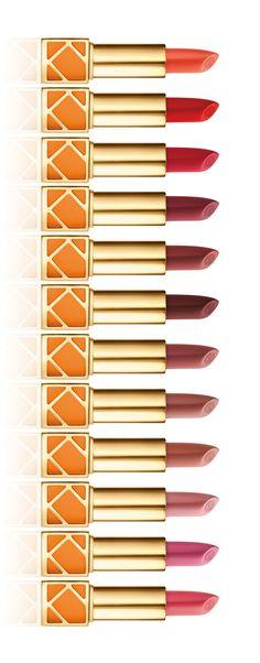 The full spectrum of Tory Burch lip colors