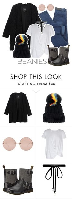 """""""Hat Head: Pom Pom Beanies"""" by lauradesousa76 ❤ liked on Polyvore featuring Monki, Eugenia Kim, Linda Farrow, MINKPINK, Dr. Martens, Joomi Lim and pompombeanies"""