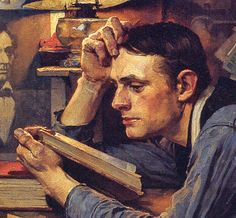 1927 The Law Student by Norman Rockwell