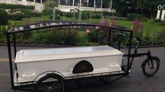 Funeral homes are offering more and more alternatives these days when it comes to burials. For example, Danish funeral director Sille Kongstad's come up with a cleaner, greener way to take a last spin through Copenhagen. It's a bicycle-powered hearse, and it is truly one sweet final ride.