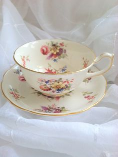 Vintage English Bone China Hammersley Teacup by MariasFarmhouse