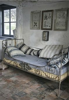 We already have three of these beds at home - one of my very favorite pieces of furniture (via French Iron Bed | all things…French)