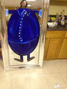 """Blueberry girl mirror :p willy wonka party prop - I like the idea of a """"Violet you're turning violet"""" picture prop, but I think I'm gonna do it out of plywood with a head cut out hole"""