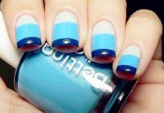 Trendy Blue Nail Art