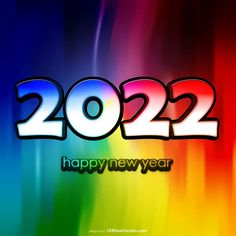 Free Happy New Year 2022 Colorful Background