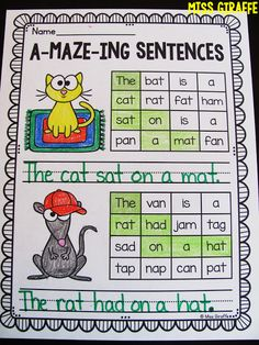 A-maze-ing sentences! Click to see all of these fun short vowels activities!