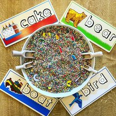 We love this #CountlessWaysToPlay idea from @playful_cygnets! Challenge kids by hiding letters from our See & Spell Puzzle in a sensory bowl filled with dried oats or beans, and encourage them to find and match the letters to complete each word 🌟   #PowerofPlay #melissaanddoug #sensorybins #learningisfun #kidsactivities #educationaltoys #learningthroughplay #playisimportant #montessori #puzzles #phonicsfun Sensory Activities Toddlers, Sensory Bins, Sensory Table, Hidden Letters, Task Boxes, Melissa & Doug, Tot School, Learning Through Play, Learning Toys