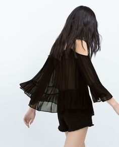 Zara - off-the-shoulder blouse with bell sleeves