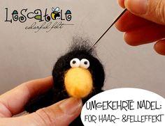Filznadeln - 2 Filznadeln für Haar-/Felleffekt  - ein Designerstück von Lescatole bei DaWanda