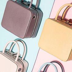 Genuine Leather Handbag Spring Cube Box Bag Shoulder Bag Cross Body Bag Clutch Purse For Girls Women