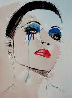 """Im Afraid I Cant Help It""  Fashion Illustration Art by Leigh Viner"