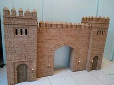 stone cut into foam Chateau Fort Jouet, Toy Castle, Château Fort, Hooray For Hollywood, Ceramic Houses, Christmas Nativity, Model Building, Medieval Fantasy, House Styles