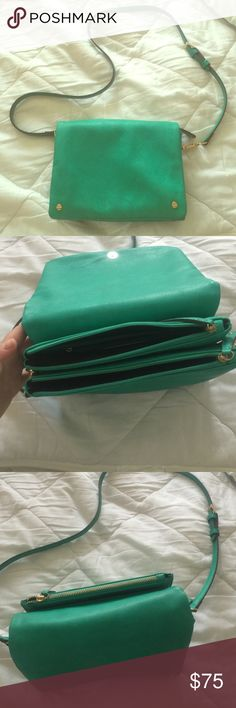 Crossbody bag Gorgeous turquoise green cross body in buttery soft leather. Only used a couple times! Street Level Bags Crossbody Bags