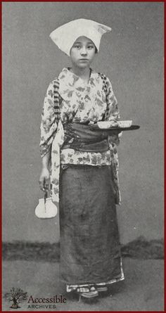 A Teahouse Girl (Japanese Glimpses, 1898 - Godey's Lady's Book)